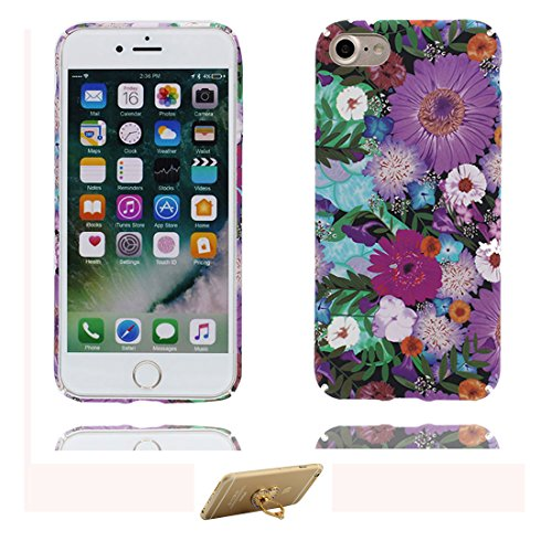 iPhone 7 Plus Custodia, Copertura iPhone 7 Plus 5.5, | Peso leggero ultra sottile Silicone Gel Soft Gel | Cartoon Fashion iPhone 7 Plus Case - originale Fiore, Antigraffio e ring supporto Color 2