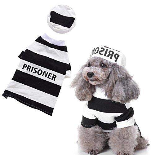huuation Pet Hund Weihnachten Kleidung Haustier Hund Katze Puppy Coat Kostüme Kleidung für kleine Hunde/Welpen/Teddy Pudel Prison (Verspielt Kostüme Welpen)