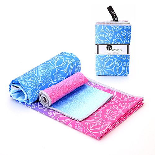 Microfibre Travel Towel - Sporttuch für den Strand - Gym - Camping - Schwimmen - Yoga und Pilates - Schnell trocknend, leicht und kompakt
