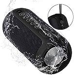 CUBOT 12W Bluetooth Speaker für Indoor/Outdoor, IPX6 Wasserdicht, TWS Technologie & Freisprechfunktion mit Eingebauten Mikrofon Bis zu 12St Spielzeit (Schwarz)