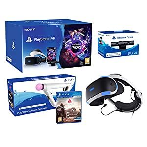"PlayStation VR2 (CUH-VR2) ""Farpoint Pack"" + VR Worlds + Kamera V2 + Farpoint inkl. Aim Controller"