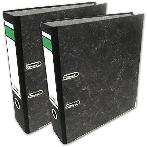 Set de 20x archivadores con revestimiento color mármol nubes para Din A4, ancho 8 cm