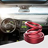 Autofasters Car Air Freshener Suspension Double Ring 360 Degree Rotating with Solar Energy (Colors May Vary) Not Exactly As Shown