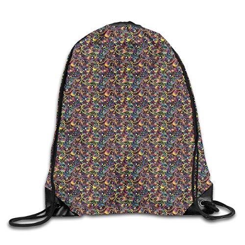 Drawstring Backpacks Bags,Sunset Over The Sea Golden Horizon Sailing Outdoors Dusk Nature Design Mediterranean,5 Liter Capacity,Adjustable -