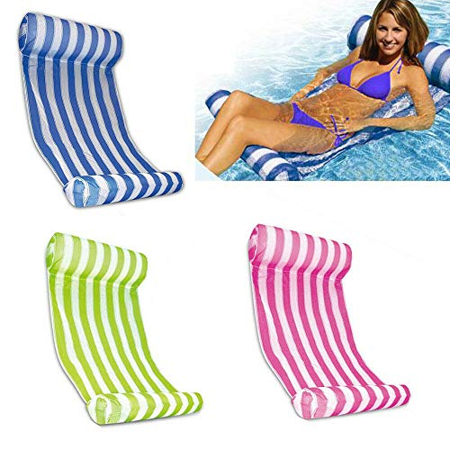 SHIOUCY Premium Swimming Pool Inflatable Floating Water Hammock Lounge Chair Sofa Summer Beach Lounge Floating Lounge Raft Floater Chair Bed