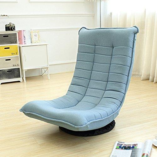 Stühle FEI Bequem 360-Grad-drehender fauler Couch-einfacher moderner Single-Schlafzimmer-Balkon-Wohnzimmer-beiläufiger Stark und langlebig (Farbe : Lake blue)