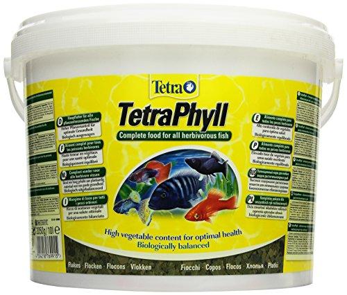 Tetra Sceau de flocons de nourriture pour poissons TetraPhyll, 10 l
