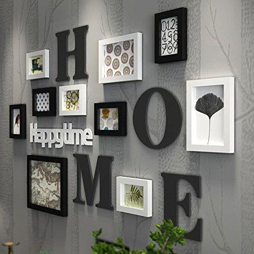 WGL Home Dekoration Wohnzimmer Schlafzimmer Feste Holz Foto Wand Fotorahmen Wand Bilderrahmen Hängende Wand Kombination von Frames Foto Wand erwarten von ( Farbe : B )