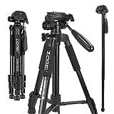 Zomei Q222 Camera Tripod Monopod Trípode Portátil de Viaje de 360 Grados con Bolsa de Transporte para Canon, Nikon, Sony DSLRSony DSLR