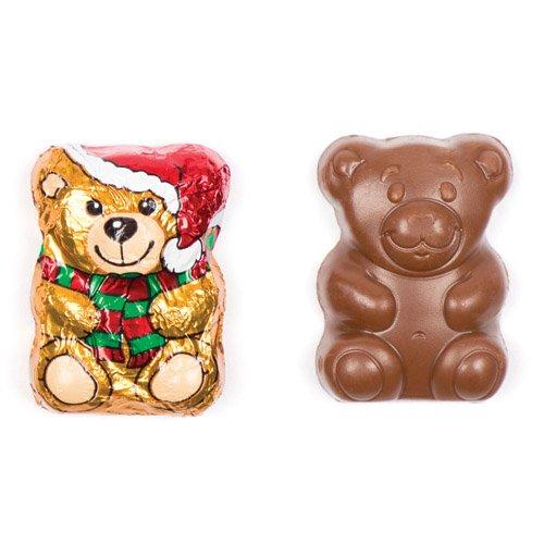 Baker Ross Ours de Noël avec Chapeau de Père Noël en Chocolat, à Glisser dans Les Chaussettes et Les Pochettes-Surprises des Enfants pour Les Fêtes de Fin d'année (Lot DE 10).