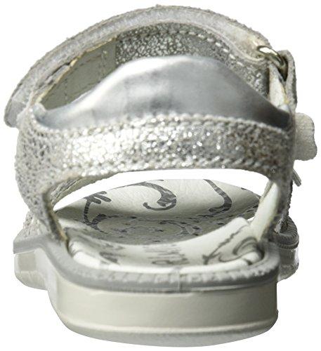 Primigi Pal 7602, Sandales Bout Ouvert Fille Argent (Argento/argento)