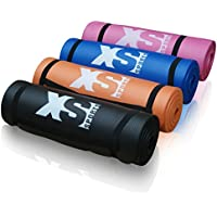 XS Sports Premium 15mm Thick NBR Yoga Exercise Mat - Fitness Aerobic Gym Pilates Camping Mat - Non Slip with Carry Strap