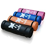 Premium 15mm Thick NBR Yoga Exercise Mat - Fitness Aerobic Gym Pilates Camping Mat - Non Slip with Carry Strap