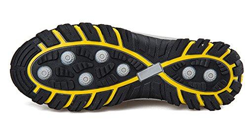 Gaatpot Uomo Donna Maglia Traspirante Scarpe da Sportive Running Ginnastica Sneakers Immersione Scarpe Grigio Giallo