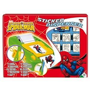 Multiprint 8817 - Juego de creación de Pegatinas con diseño de Spiderman, Incluye 7 tampones para Estampar