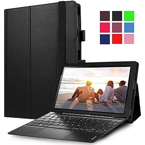 Lenovo Miix 310–Funda avidet alta calidad Slim-Book Funda de piel sintética con función atril para Lenovo Miix 310 negro negro