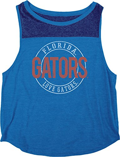 Blue 84 NCAA Florida Gators Heritage Tri-Blend Yoke Tank Shirt, Large, Royal - Royal Blue Gator