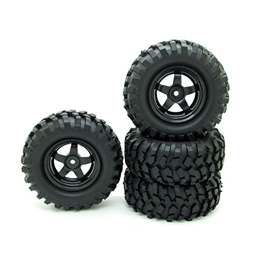 rc110-off-road-rc-car-12mm-hub-5-spoke-wheel-rim-tires-black-pack-of-4
