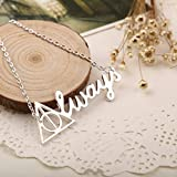 #7: Fancy Steps Always Harry Potter Inspired Locket Pendant Necklace for Men And Women color (silver)
