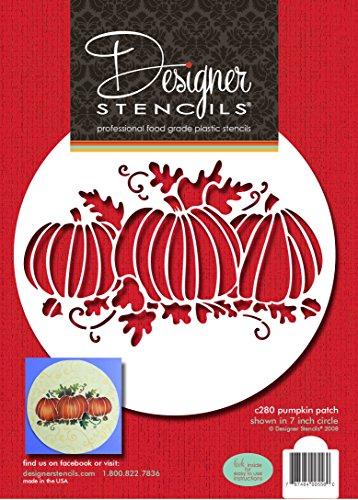 Designer Schablonen C280Pumpkin Patch Kuchen Schablone, beige/Halbtransparent