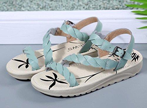 2017 scarpe da estate le nuove donne in gravidanza in pelle piana pianura pattini fondo piatta dei sandali 2