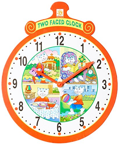 Creative Educational Aids 0655 Two Faced Clock
