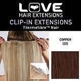 Love Hair Extensions - Extensions con clip in fibra resistente alle alte temperature, per capelli lisci e setosi