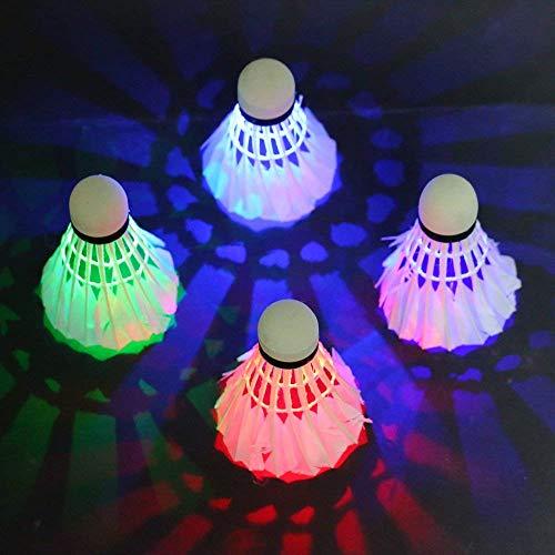 Rixow LED Badminton, Federbälle Beleuchtun,Federball Shuttlecock für Outdoor en Indoor Sportsaktivitäten