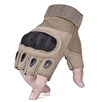 kinnor Gloves Half Finger Fingerless for Camping Hiking Cycling Riding Motorcycle Biking Hunting