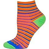 Wrightsock Coolmesh II Quarter Socke Orange Blue Green 37.5-41