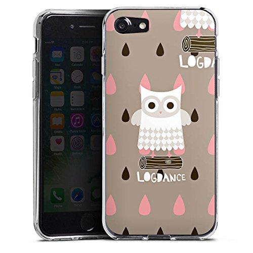 Apple iPhone X Silikon Hülle Case Schutzhülle Eule Holz Stamm Silikon Case transparent
