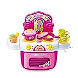 SainSmart Jr.. Küchenspielzeug Kinderküche Set Backset Spielzeug für Jungen Mädchen ab 3 Jahre, Pink