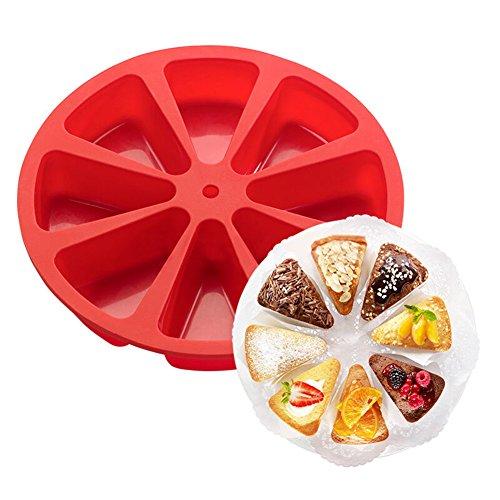 Cosanter Silikon Dreieck Kuchen Dekoration Rollfondant Zuckerglasur Fondant Ausstechform Backform Kuchenform mit 8 components (Dreieck-kuchen-deckel)
