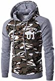 jeansian Hombres Casual Camuflaje Printing Hoodie Hooded Deportiva Sudaderas Con Capucha Moda Sports Tops Outwear Jacket D728