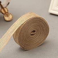 Cinta arpillera de artesanía de yute natural de 10 metros, para decoración de fiestas de casamiento clásicas, 2 cm