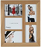4648AP5 New England High Quality Solid Oak Wood 4x6in/A6 (10x15cm) Multi Aperture Photo Frame Beautiful Mortice Corner Joints Wall Hang Only