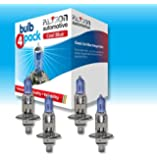 5 PCE JAGUAR X-TYPE BLUE TINT HEADLIGHT/HEADLAMP BULBS KIT HID