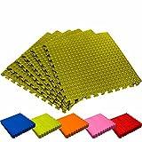 #DoYourFitness Schutzmatten Set 6X Puzzle Unterlegmatten Bodenschutz für Gymnastikräume - Matten Schutz vor Kratzern Stößen Dellen Lärm - 6X Steckelemente á 60 x 60 x 1,2 cm (ca. 2,2m²) Grün