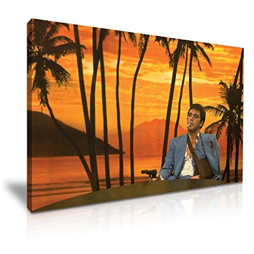 Yes Art Leinwandbild mit ikonischem Motiv von Tony Montana aus
