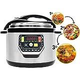 Olla programable GM Modelo G 10 litros. Robot de cocina programable multifunción que cocina por ti. Funciona con o sin presión de hasta 90 Kpa, 19 menús, modo ECO, capacidad de hasta 10 litros.