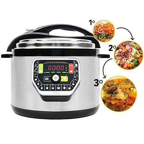 Ollas GM Modelo G - Olla programable robot de cocina programable multifunción que cocina por ti - capacidad de 10 litros.