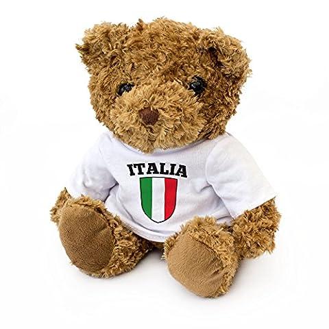 NEUF - DRAPEAU ITALIEN - Mignon Ours En Peluche - Doux Adorable Noël Anniversaire Cadeau Italie