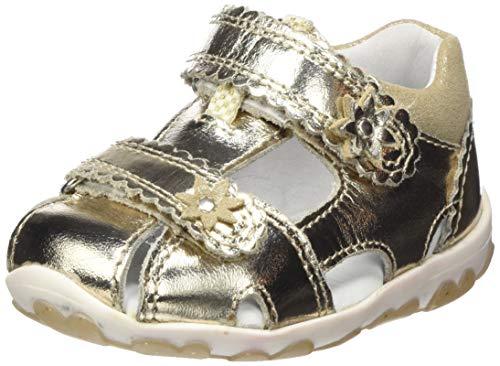 Superfit Baby Mädchen Fanni Sandalen, Metallic Gold 97, 22 EU