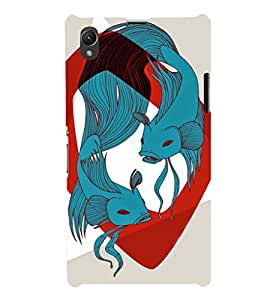 EPICCASE Two fishes Mobile Back Case Cover For Sony Xperia Z1 (Designer Case)
