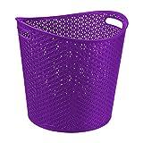 Curver My Style 216588 - Cesta de polipropileno de lavandería, 39 x 39 x 37 cm, color: Purple
