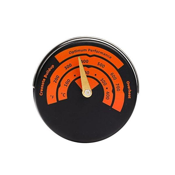 Termómetro magnético para estufa, medidor de temperatura para quemador de leña, barbacoa
