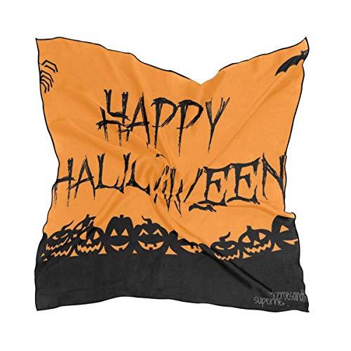 Halloween Signs Silk Feeling Square Scarf Satin Neck Scarves Head Hair Wraps ()