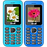 Hicell C5 (Combo Of Two MOBILES) Dual Sim Mobile Phone With Digital Camera And 1.8 Inch Screen (Blueblack+NavyBlueBlack)
