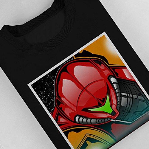 Metroid Bounty Hunter Samus Aran Women's Sweatshirt Black
