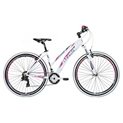 "Mountain Bike da donna 27,5"" Atala My Flower 21V bianco/nero/fuxia"